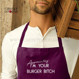 'Apparently I'm Your Burger Bitch' Long Apron - CheekyDoodah