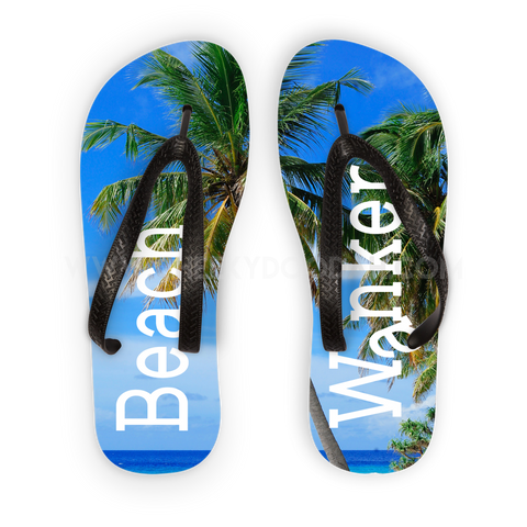 CheekyDoodah Beach Wanker Flipflops Black straps