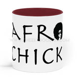 Afro Chick Two Toned Mug - CheekyDoodah