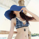 Women's Foldable Large Floppy Beach Hat