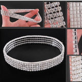 Crystal Rhinestone Stretch Anklet - CheekyDoodah