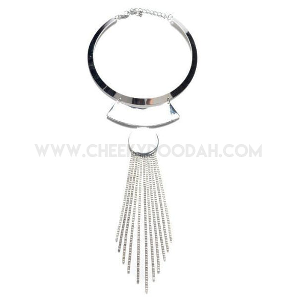 Long Tassel Chunky Necklace - CheekyDoodah