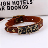 Unisex Punk Style, Retro Leather Anchor Bracelet