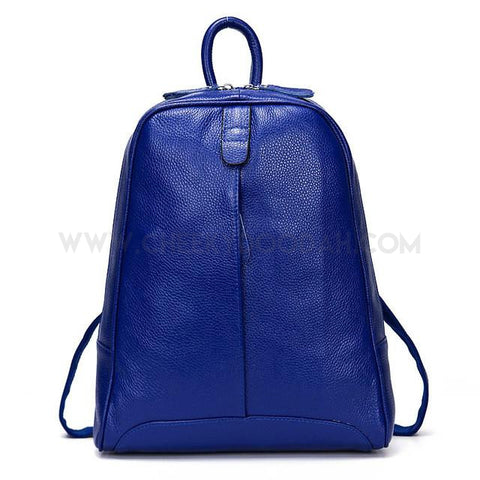 Soft leather backpack Blue