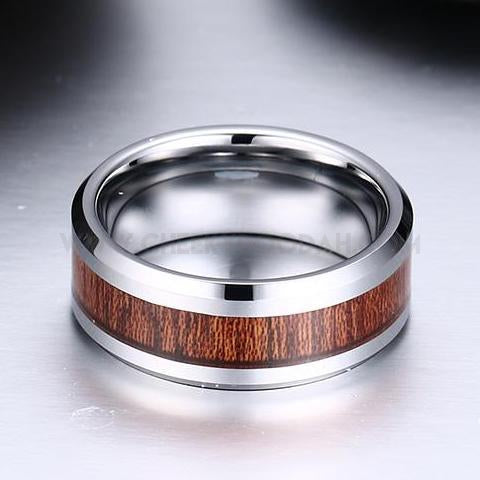 Mens Tungsten Carbide Ring - CheekyDoodah