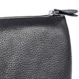 Leather Cosmetic Organiser Wallet or Clutch Black reverse