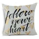 Gold and White Cushion Covers - CheekyDoodah