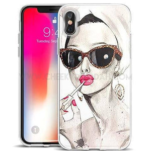 Chic Girl Case Covers For iPhone 8 7 6 6s Plus X - CheekyDoodah