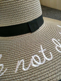 'Do Not Disturb' Wide Brimmed Straw Sunhat, 7 colours