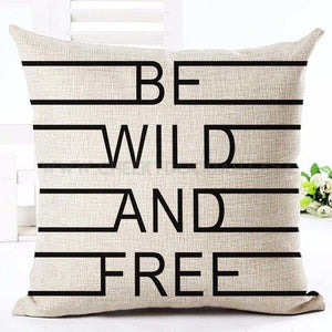 Be Wild And Free Cushion Cover - CheekyDoodah