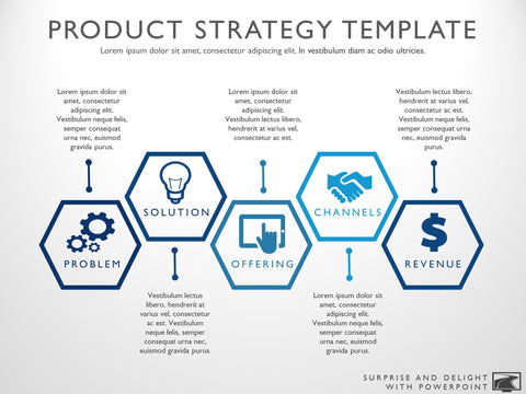 product strategy hexagon template
