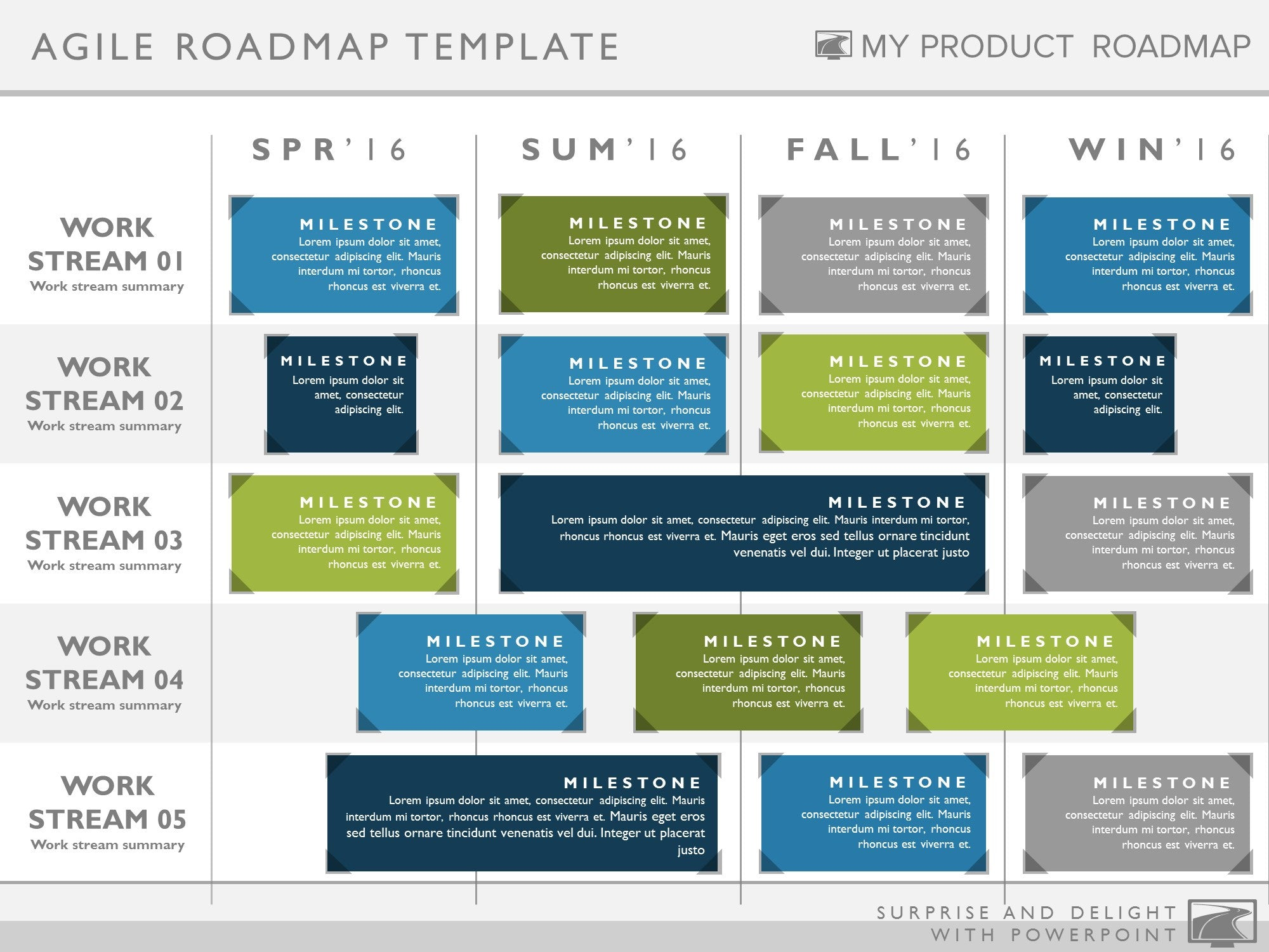 four phase agile product strategy timeline roadmapping powerpoint diag