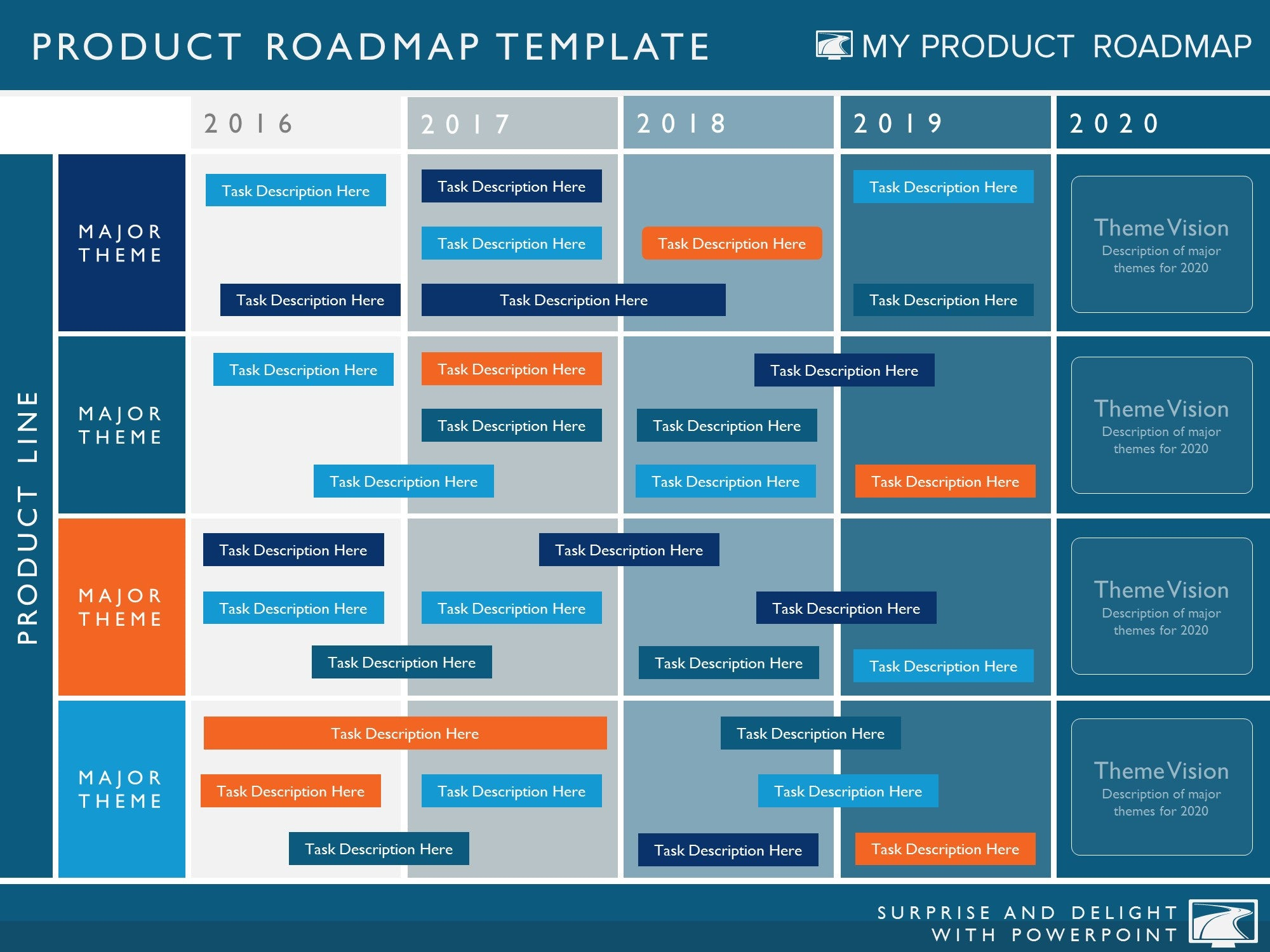 Five Phase Agile Software Timeline Roadmap Powerpoint Diagram - Roadmap timeline template ppt