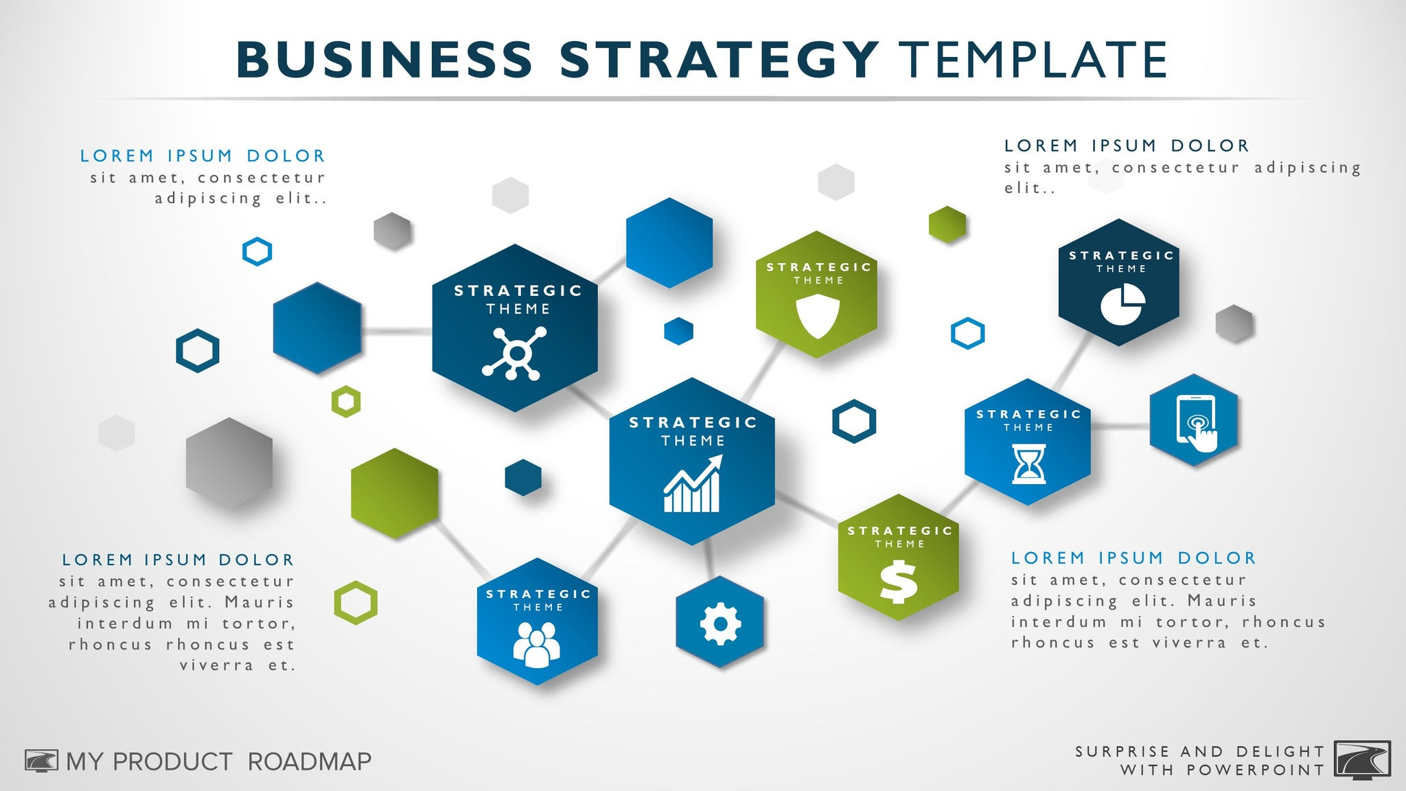 Business strategy template powerpoint selol ink free business strategy template accmission Images