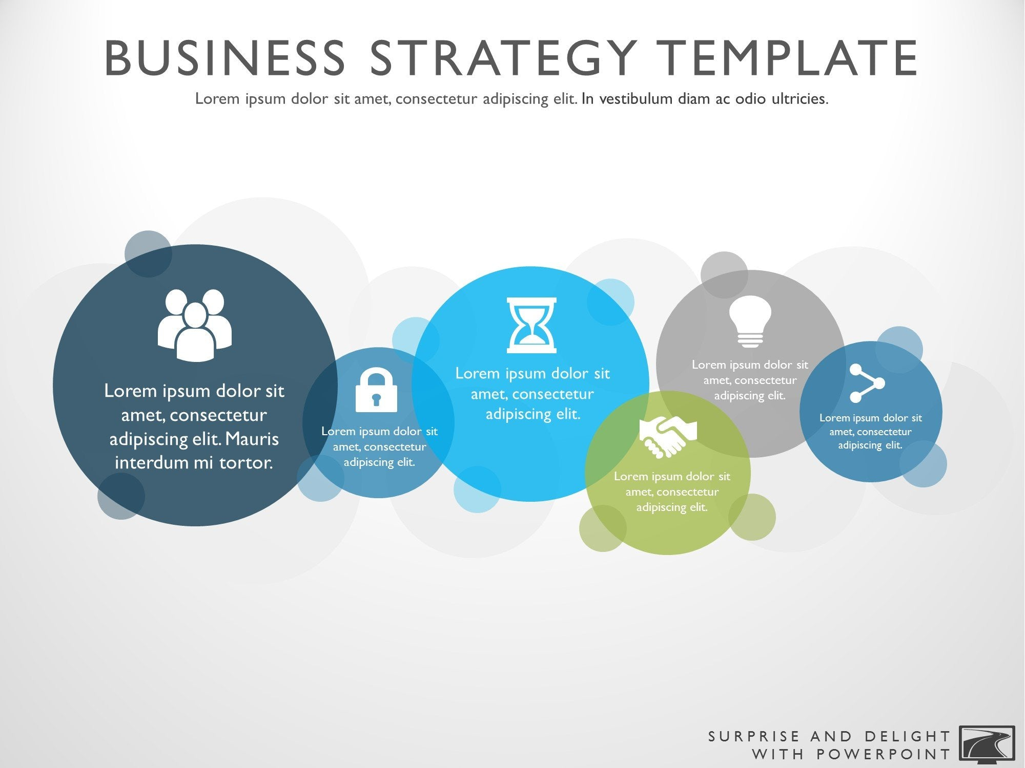 Free business strategy powerpoint template friedricerecipe Images
