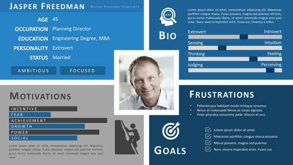 customer persona template product strategy template 21281 | BuyerPersona002Slide1 grande