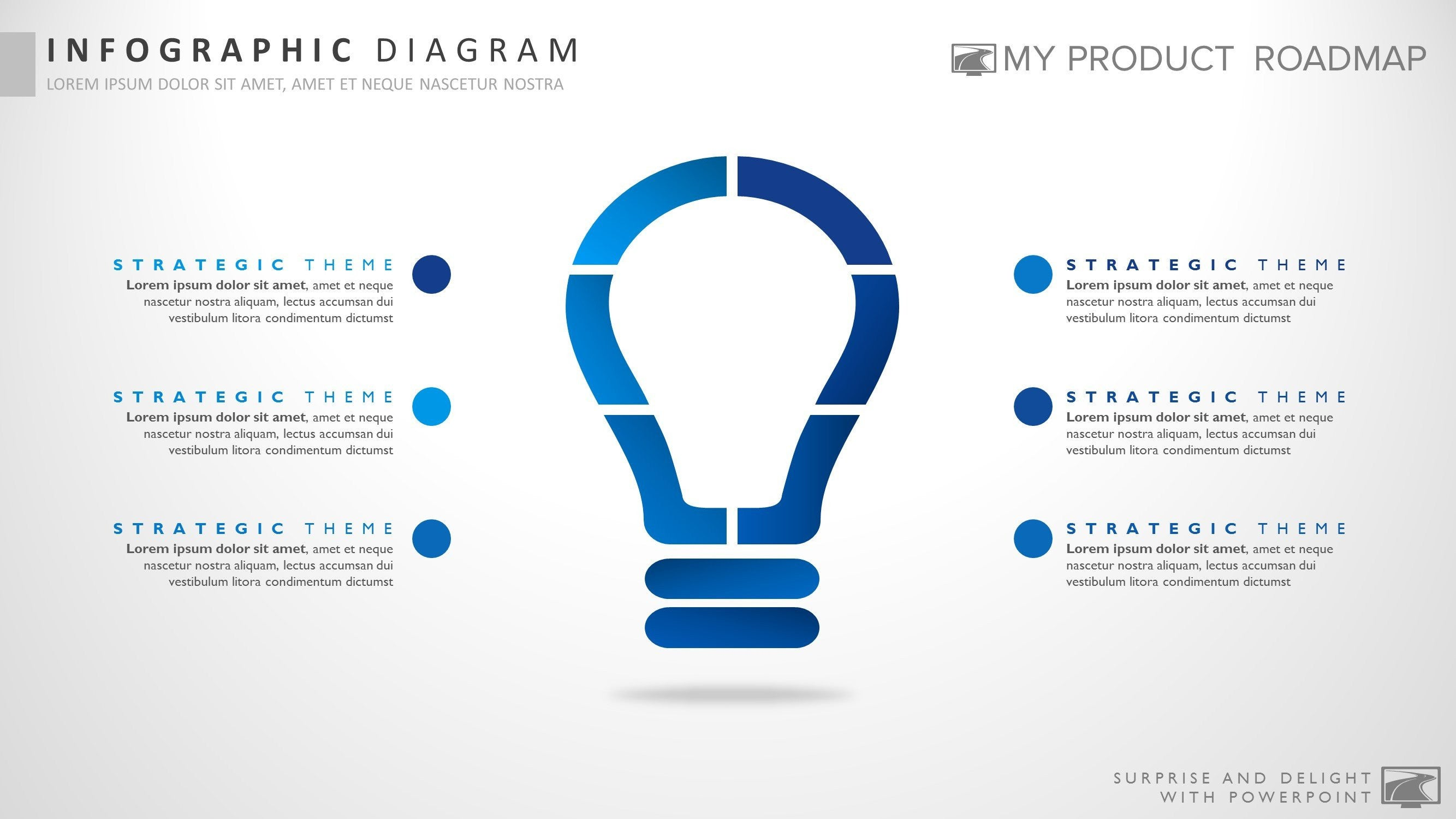 six element powerpoint strategy infographic presentation diagram