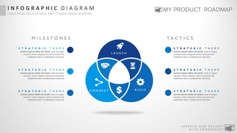 Six Stage Professional Powerpoint Strategy Infographic Presentation Design