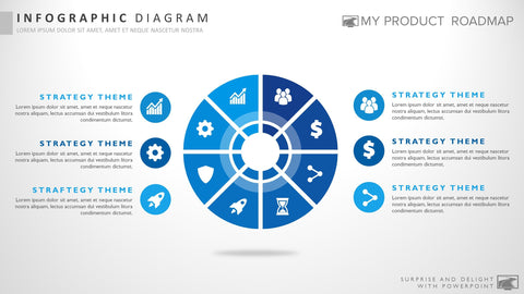 Eight Stage Infographic Powerpoint Strategy Infographic Slide Design
