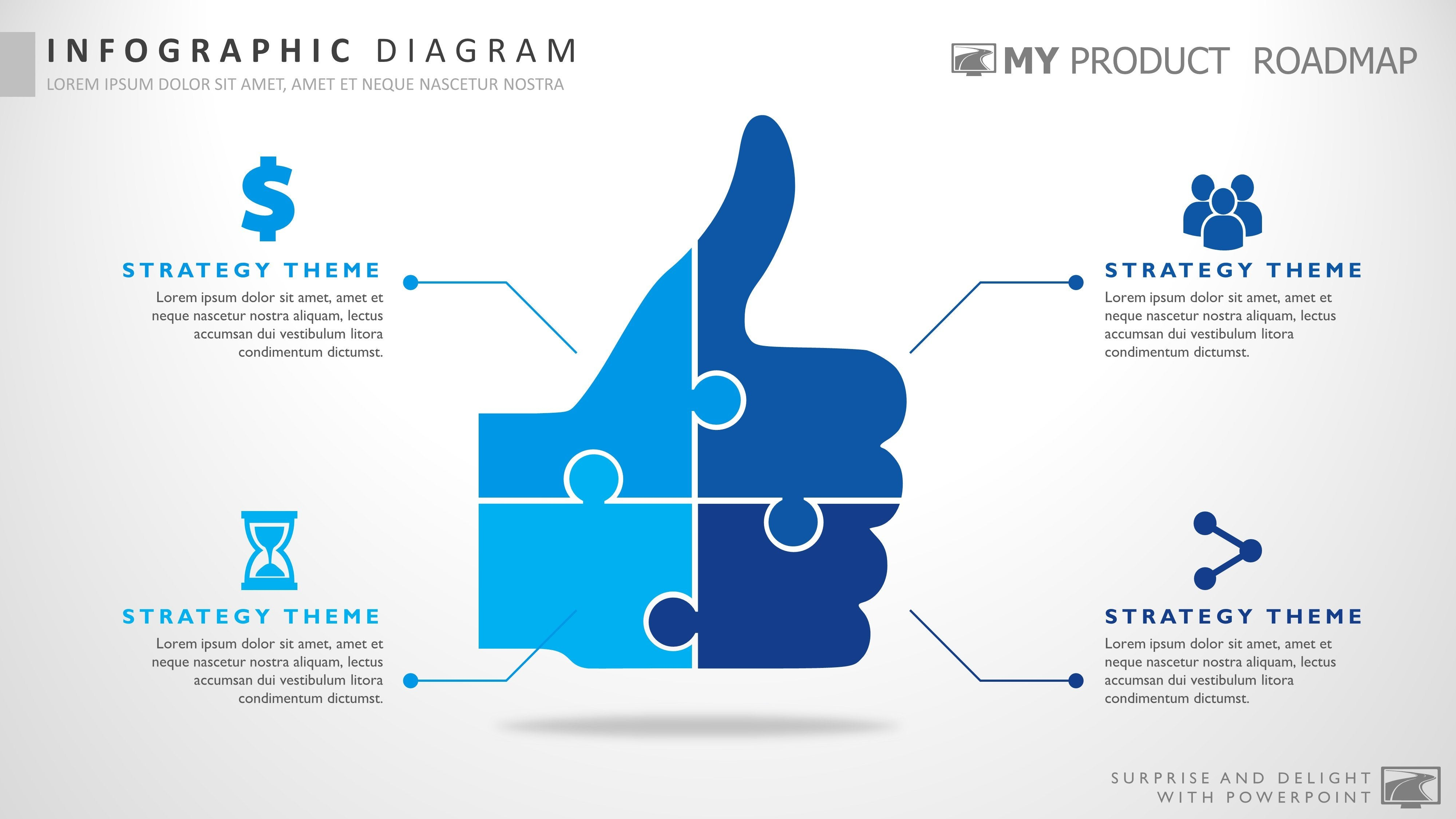 four stage cool powerpoint strategy infographic presentation design