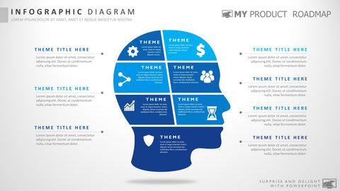 Seven Stage Infographic Powerpoint Strategy Smartart Presentation Design