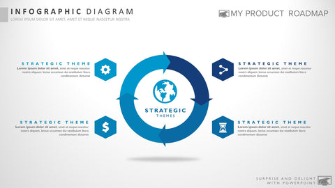 Four Stage Microsoft Powerpoint Strategy Infographic Presentation Design