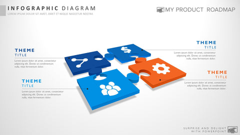 Four Stage Modern Powerpoint Strategy Infographic Presentation Template