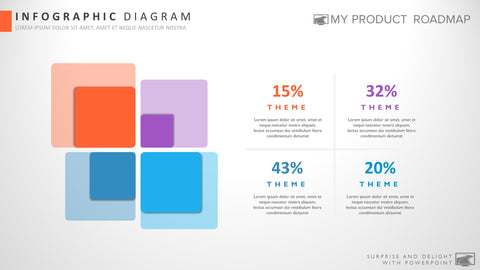 Four Stage Modern Powerpoint Strategy Infographic Theme Diagram