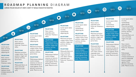 Nine Phase Sweeping Portfolio Roadmap PowerPoint Diagram