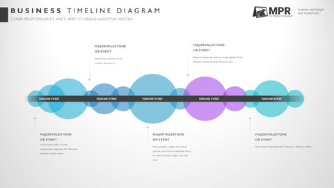 Five Phase Professional Timeline PowerPoint Template
