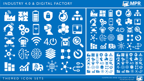 Icon Set - Industry 4.0 & Digitisation