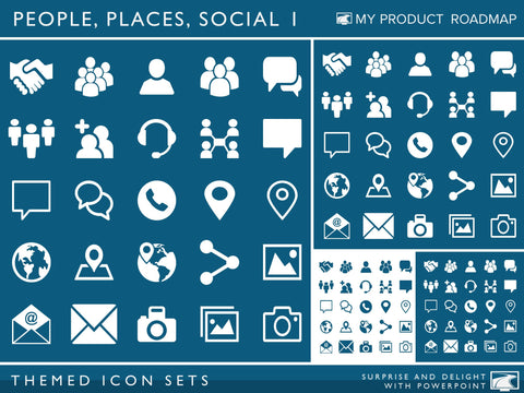 Icon Set - People, Places and Social I