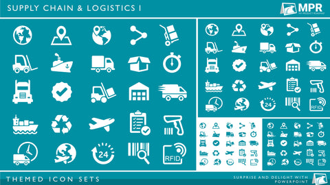 Icon Set - Supply Chain & Logistics I