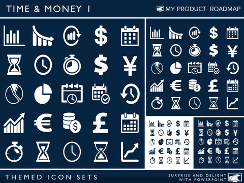 Icon Set - Time & Money I