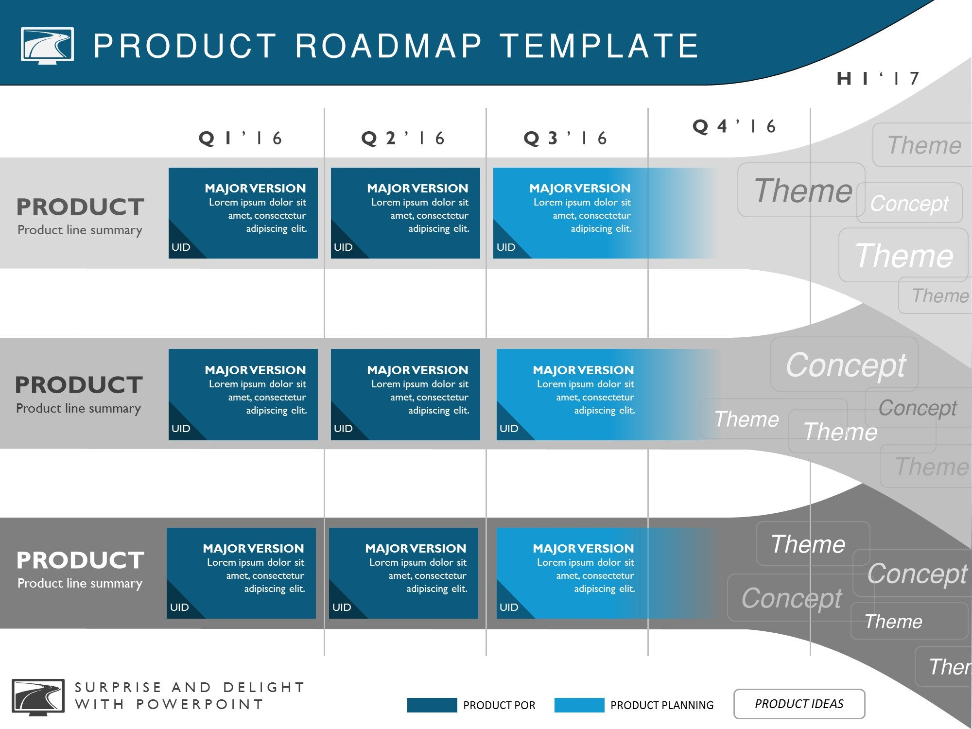 product roadmap, strategy and investment planning powerpoint, Modern powerpoint