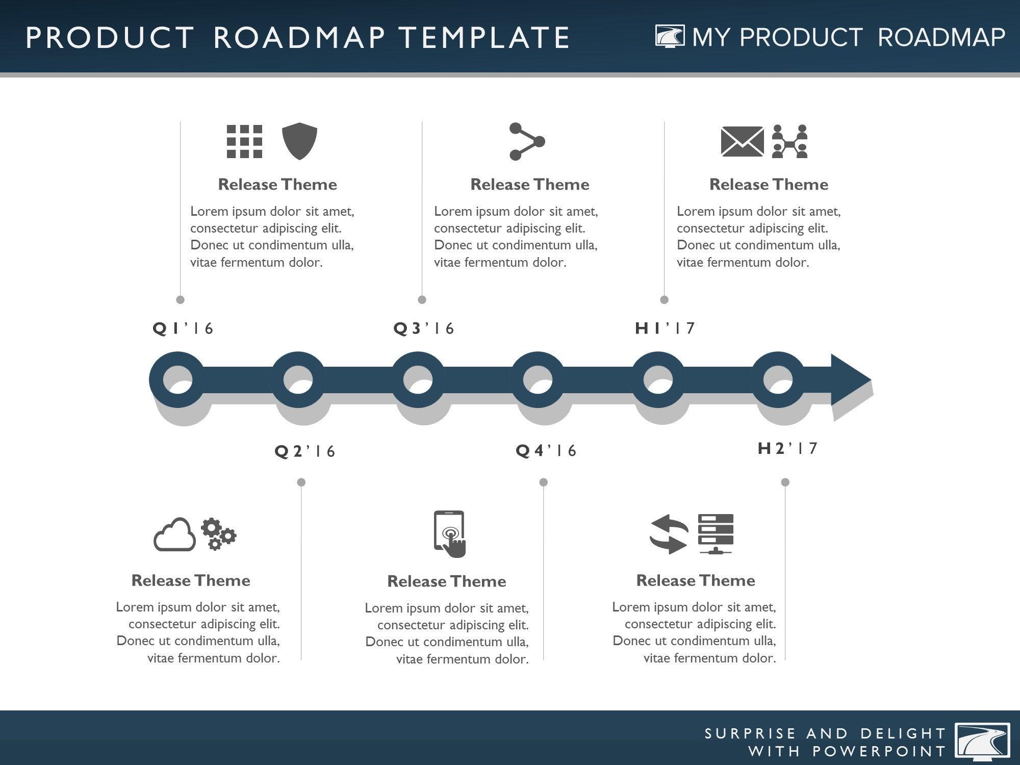 five phase it timeline roadmapping presentation diagram