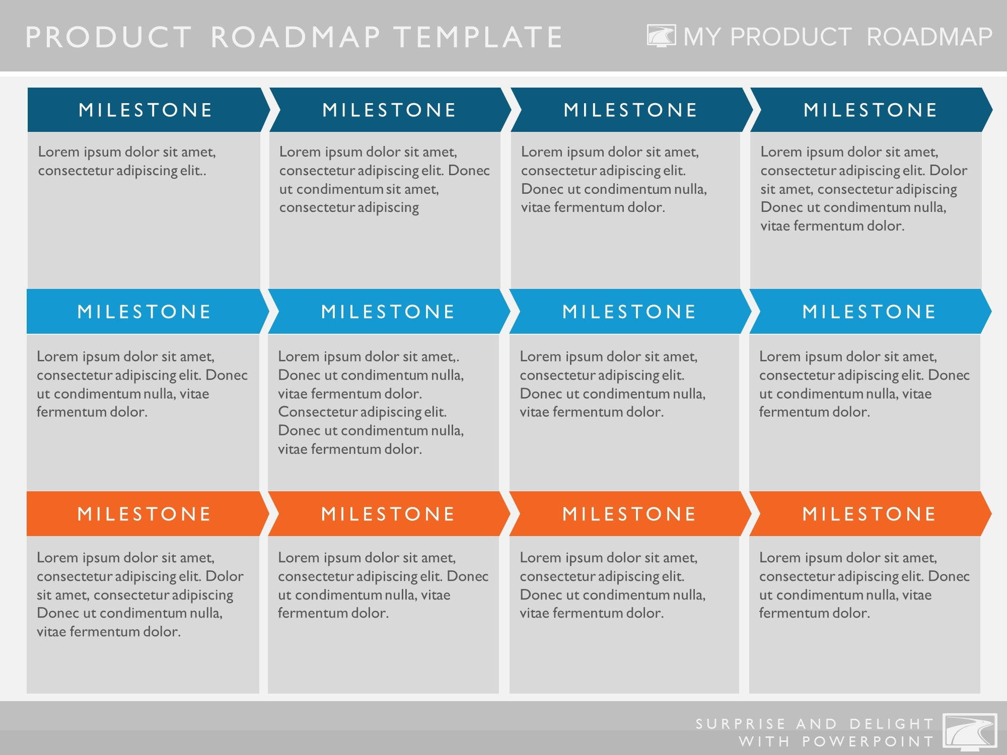 Six Phase Software Strategy Timeline Roadmap Presentation Template - Lean roadmap template
