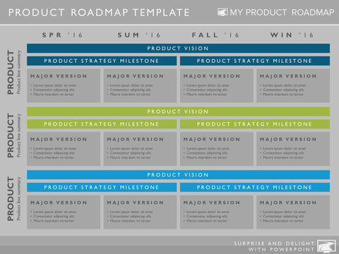 Four Phase Software Timeline Roadmap Powerpoint Diagram – My