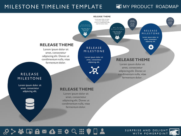 software development roadmap template - six phase product portfolio timeline roadmapping