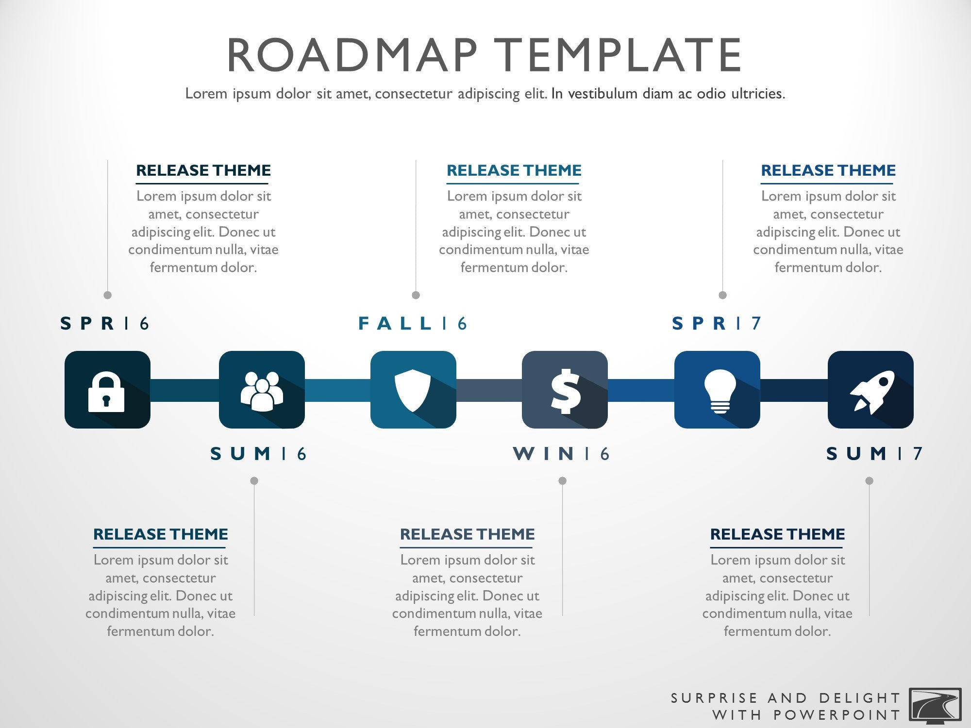 Six Phase Product Development Timeline Roadmap PowerPoint Diagram - Timeline roadmap template