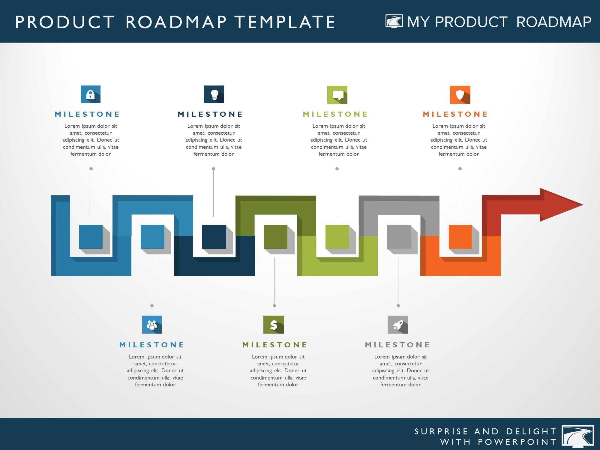 Seven Phase It Strategy Timeline Roadmapping Powerpoint Diagram - Timeline roadmap template