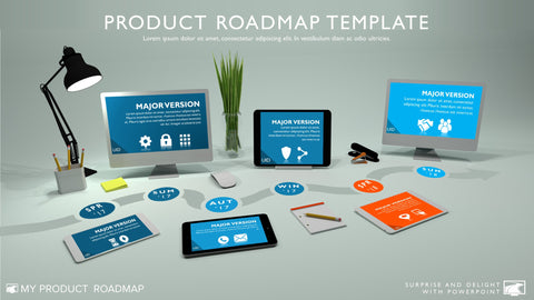 Product Roadmaps And Timelines For Powerpoint  My Product Roadmap