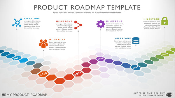 Six Phase Software Timeline Roadmap Powerpoint Template