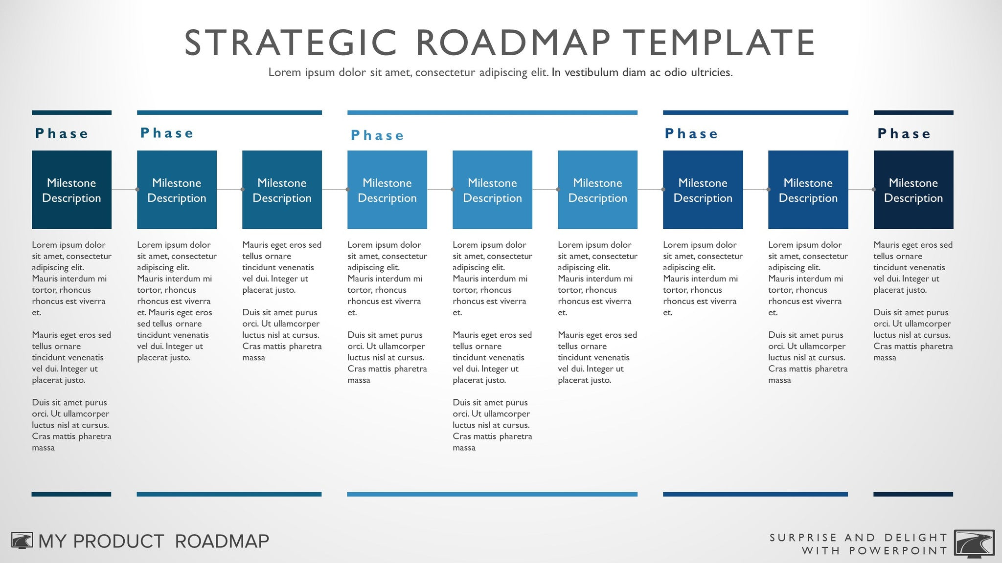 My Product Roadmap  Business Roadmap Template