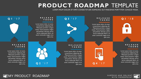 Free Five Phase Agile Timeline Roadmapping Presentation