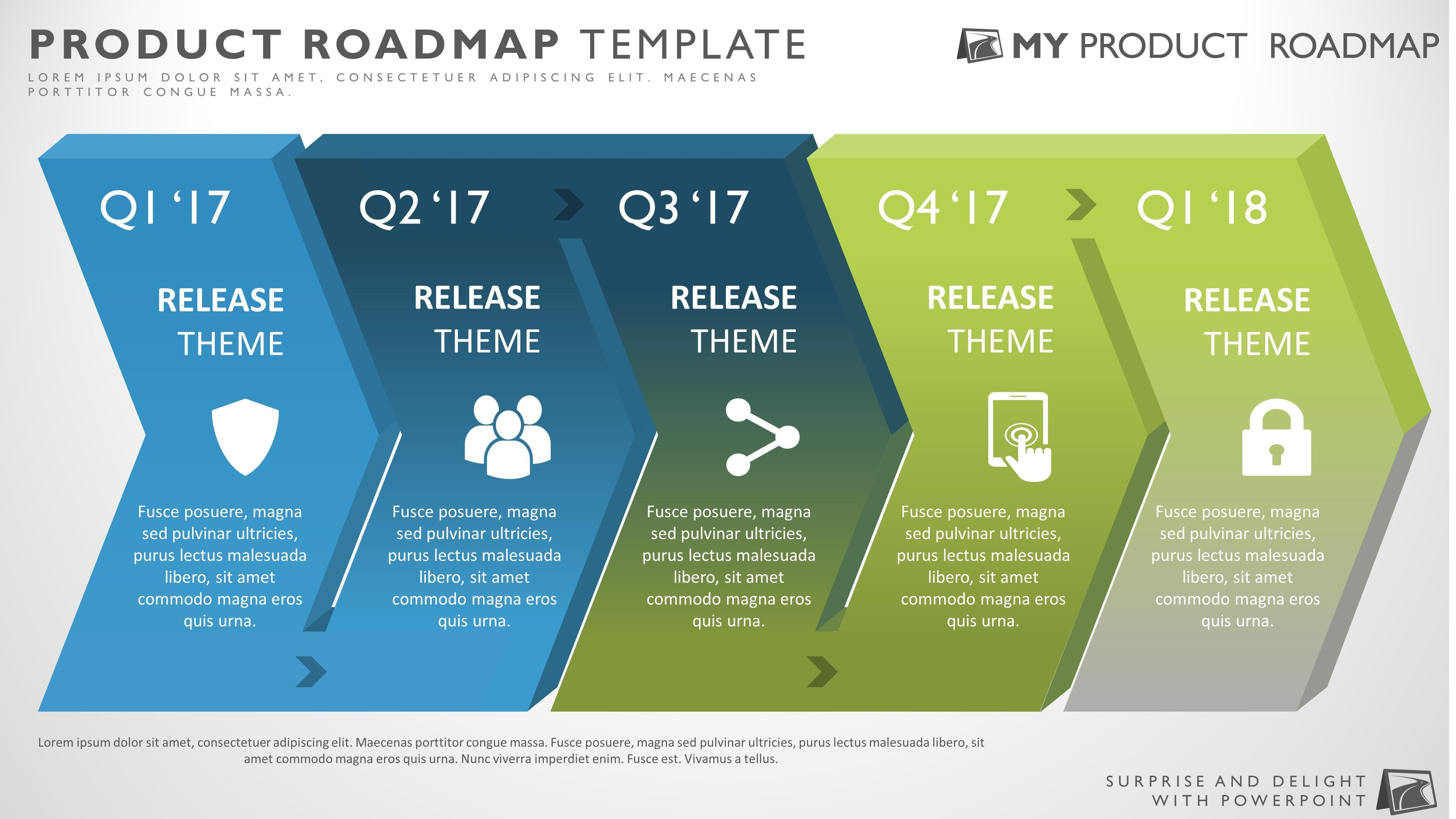 five phase business strategy timeline roadmap powerpoint template
