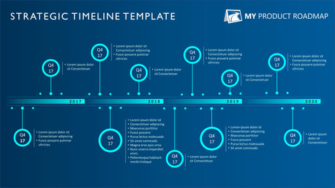 Eleven Phase Bright Creative Timeline Slide