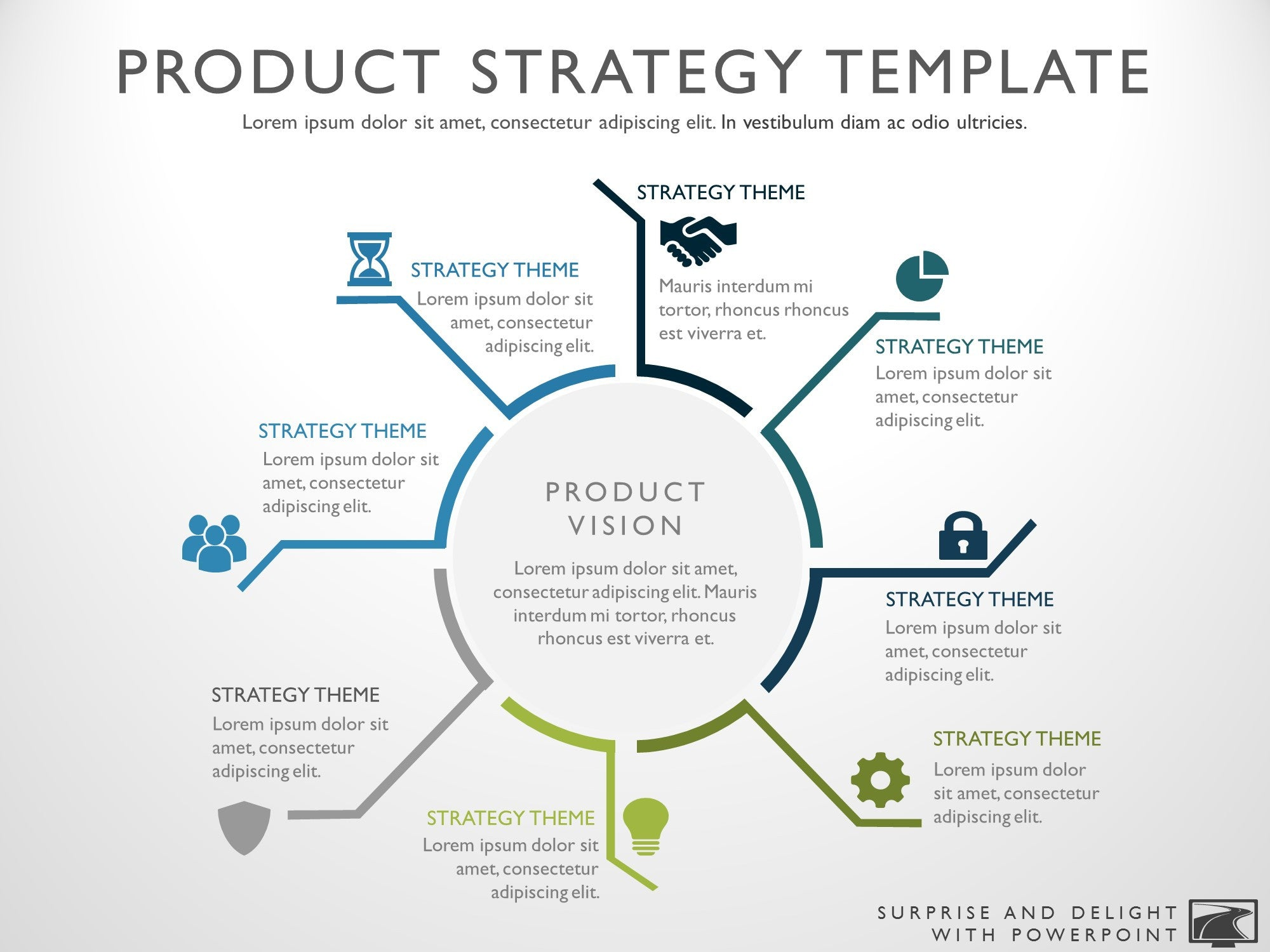 it strategic plan template powerpoint - product strategy template