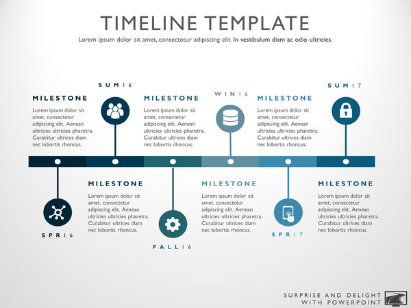 six phase project timeline graphic