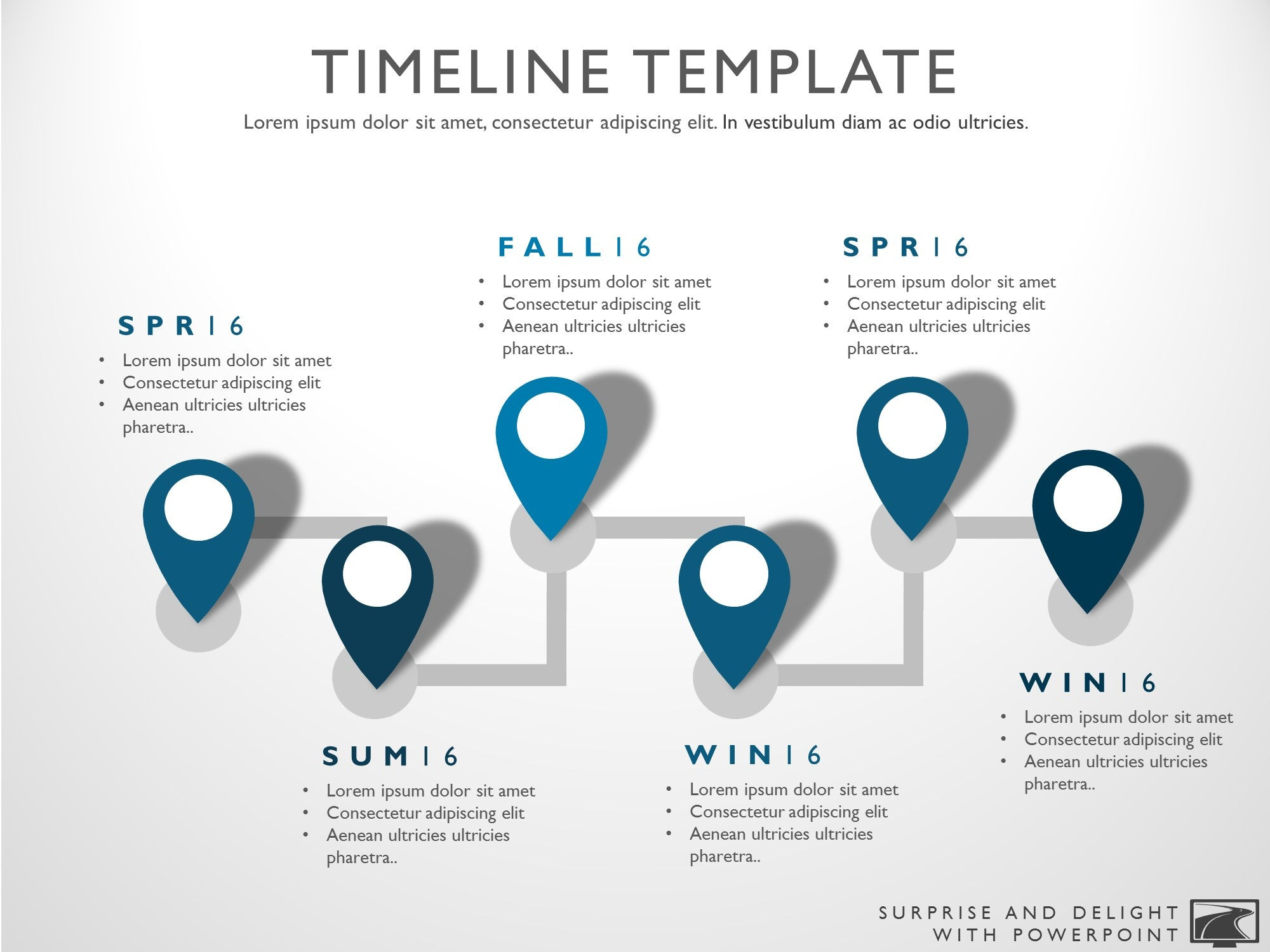 Six Phase Powerpoint Timeline Graphic - Timeline graphic template